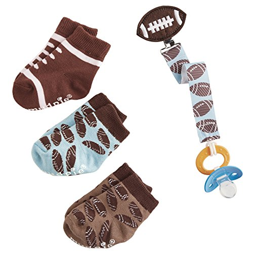 Pie Onesie (Mud Pie Football Sock and Pacy Clip Set,)