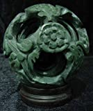 """ORIENTAL FURNITURE Unique Corporate Business Gift Woman/Man - 6"""" Jade Six Layer Dragon Puzzle Ball Paper Weight"""