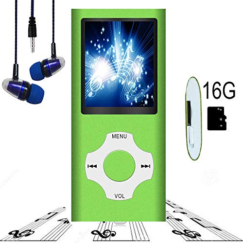 """MP3 Player / MP4 Player, Hotechs MP3 Music Player with 16GB Memory SD Card Slim Classic Digital LCD 1.82"""" Screen Mini USB Port with FM Radio, Voice Record"""