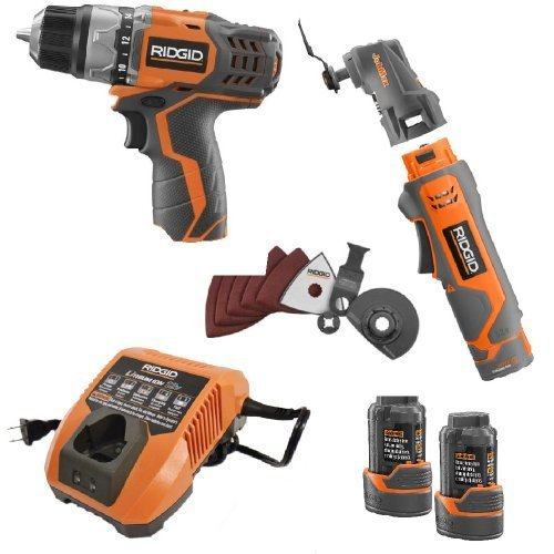 Ridgid R9005D JobMax 12 Volt Lithium Drill and Multitool Kit by SioGreen (Image #2)
