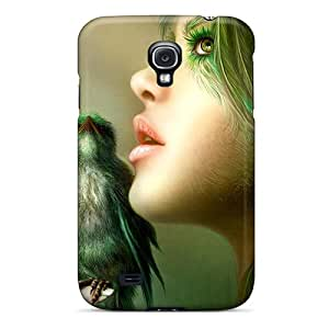 New Premium HappyDIYcase Fantasy Girl Bird Skin Case Cover Excellent Fitted For Galaxy S4