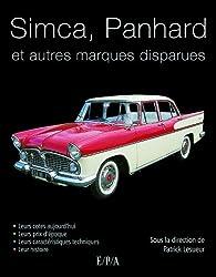 Simca, Panhard de collection et autres marques disparues