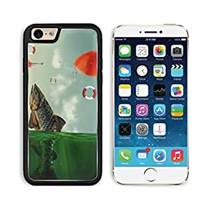 Fish Bait Mid Air Float Abstract Art Apple iPhone 6 TPU Snap Cover Premium Aluminium Design Back Plate Case Customized Made to Order Support Ready Luxlady iPhone_6 Professional Case Touch Accessories Graphic Covers Designed Model Sleeve HD Template Wallpaper Photo Jacket Wifi Luxury Protector Wireless Cellphone Cell Phone