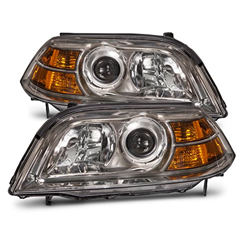 Headlights Depot Replacement for Acura MDX Headlights Oe Style Headlamps Driver/Passenger Sides