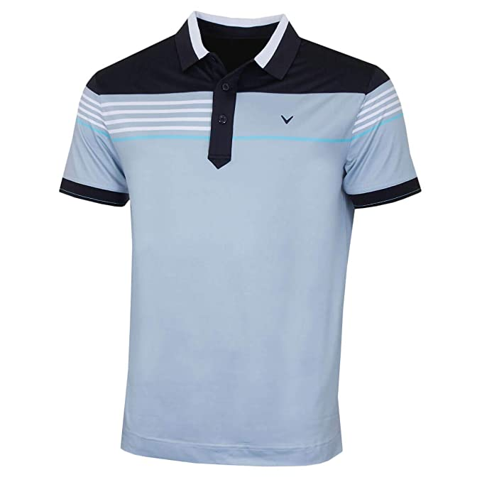 Callaway UKX Stripe Chest BLO Polo, (Azul 495), X-Large (Tamaño ...