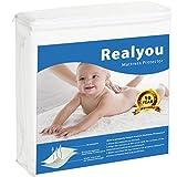 REALYOU Queen Size Mattress Protector, Premium Hypoallergenic Waterproof Bed Bug and Dust Mite Proof (Queen Size)