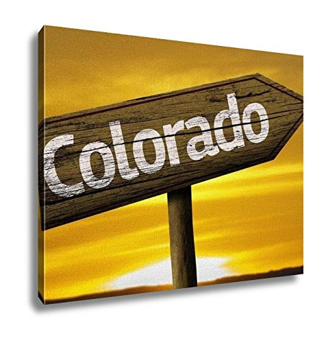 Ashley Canvas, Colorado Wooden Sign, Kitchen Bedroom Dining Living Room Art, 24x30, - Directions Usa Destiny To