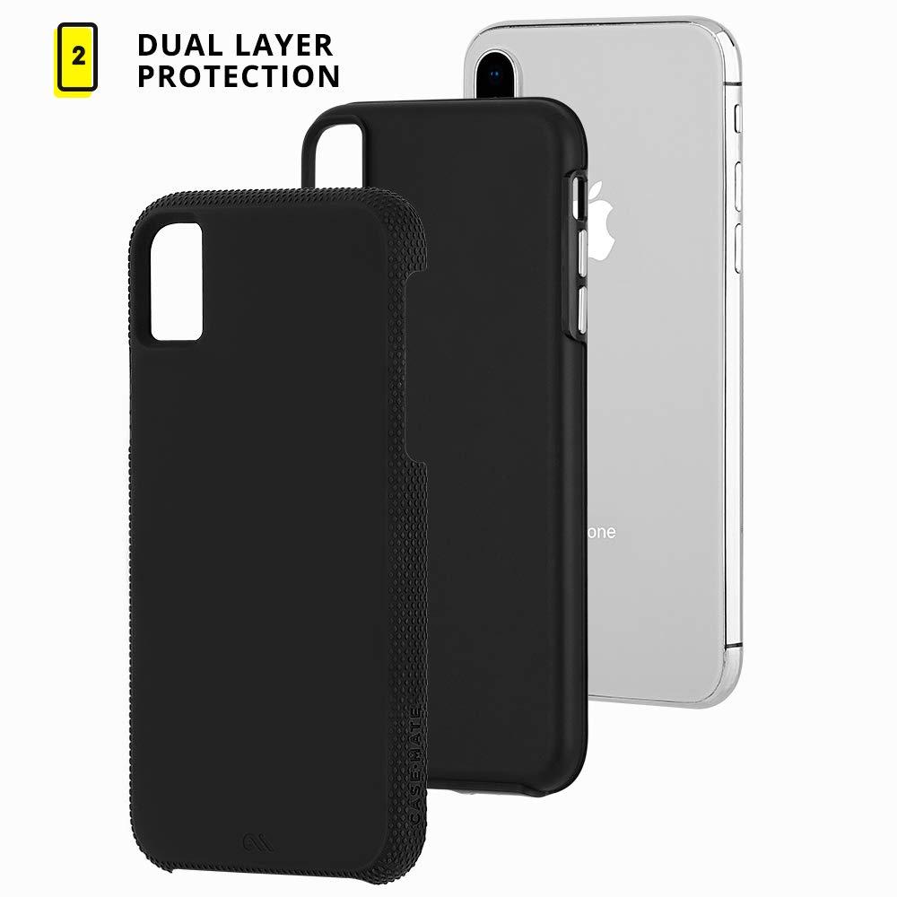 buy popular 7fdd2 6528b Case-Mate - iPhone XS Grip Case / iPhone X Grip Case - TOUGH GRIP - iPhone  5.8 - Black/Black