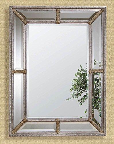 Roma Wall Mirror - Antique Silver -