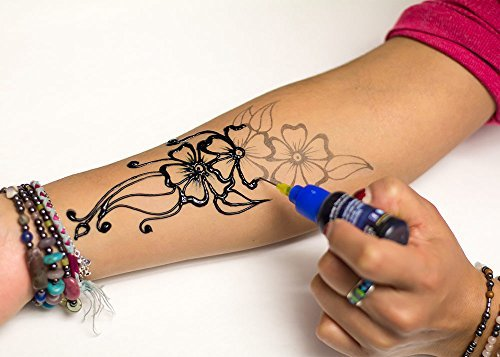 Henna Tattoo Hand Amazon: Henna City All-Natural Jagua Tattoo Kit (1 OZ)