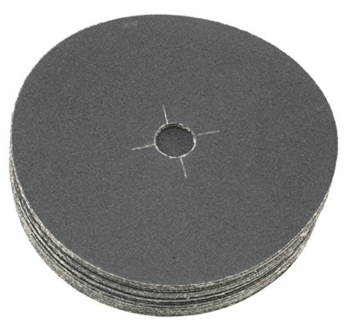 """Sungold Abrasives 87502 Plain Backed Edger Sanding Discs for Floor Sanders 36 Grit Heavyweight Silicon Carbide Paper with 7"""" x 7/8"""" Center Hole (50 Pack)"""
