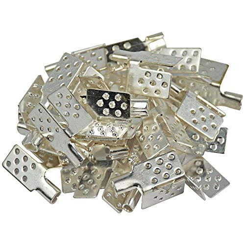 (FidgetKute 40pcs Clamp Connector Copper Plating Silver Carbon Heating Film Warm Flooring Show One Size)