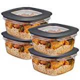 chicken bowl set - Rubbermaid (8-Piece) 5-Cup Plastic Food Storage Container Set BPA-Free Airtight Lids Meal Prep Bowls