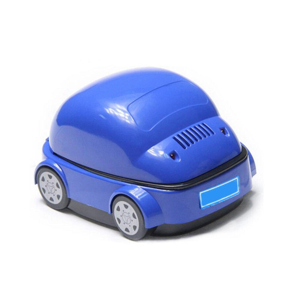 Denshine Car Shaped Ashtray Purifier, Smokeless Ashtray, Ashtray Outdoor Electric Smokeless Ashtray Case Portable Smoke Remover USB/Battery Charging Novelty Ashtray Good for Health (Blue)