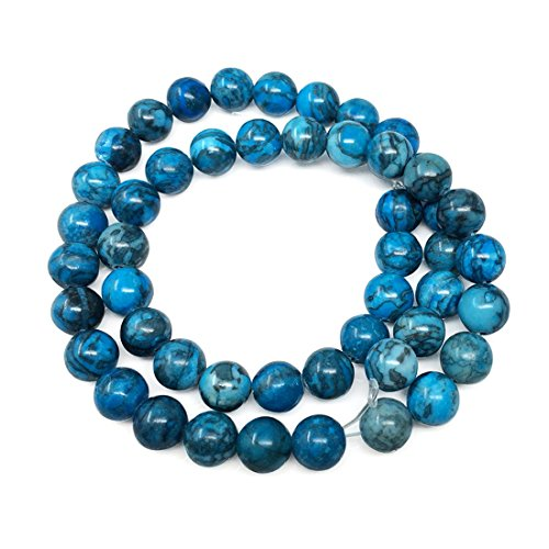 Top Quality Natural Blue Lace Jasper Gemstone 10mm Round Loose Gems Stone Beads 15 Inch for Jewelry Craft Making -