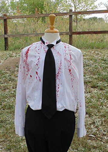 Men's XL 34-35 Hand Dyed Tuxedo Shirt by Fru Fru and Feathers Costumes & Gifts