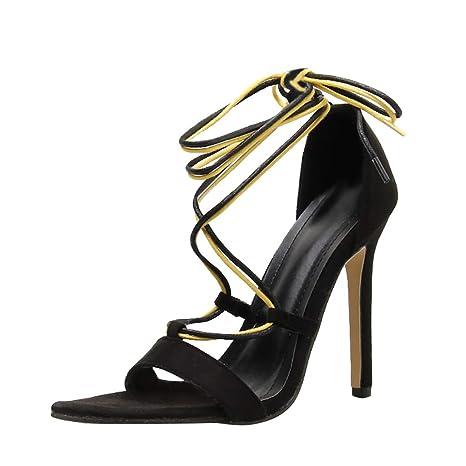 90afddc2386bf Amazon.com : YEZIJIN Women's Ladies Fashion Pointed Toe Mixed Color ...