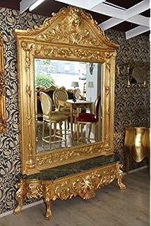 Casa Padrino Luxus Barock Spiegelkonsole Gold Lion