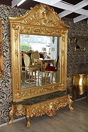 Casa Padrino Luxus Barock Spiegelkonsole Gold Lion Luxus