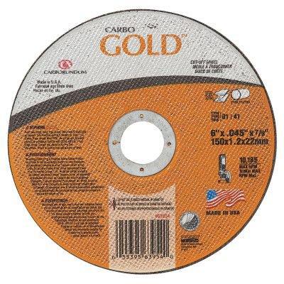 Type 1 6 X .045 X 7//8 GoldCut Reinforced Aluminum Oxide Abrasives 196 Pack 46 Grit