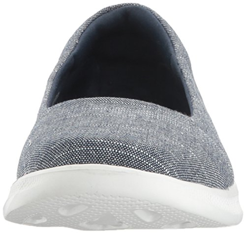 Blush Slip Nvw white On Trainers Step Skechers Navy Go Lite Slipper Women's qzUnz0xgW