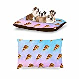 KESS InHouse Juan Paolo ''Lucid Pizza'' Food Pattern Dog Bed, 30'' x 40''