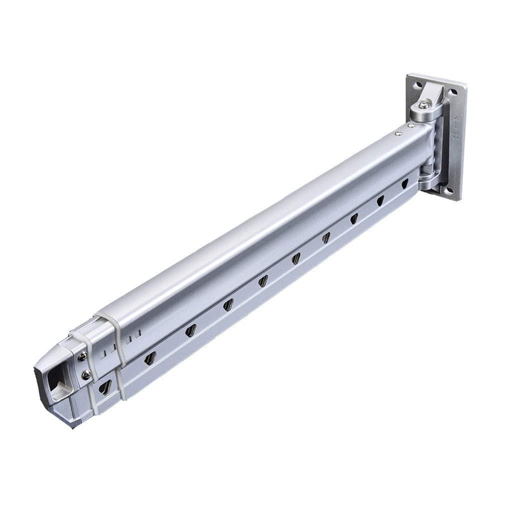 乾燥ラックアルミ乾燥ラック家庭用壁掛け折りたたみ伸縮式単極服積載量150キロ (Color : Silver) B07SMTW6B5 Silver