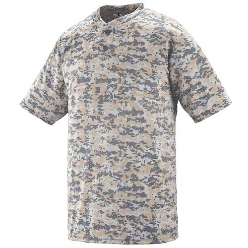 (Augusta Sportswear Youth Digi Camo Wicking Two-Button Jersey M Sand Digi)