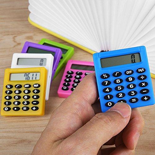 shelian Plastic Digits LCD Display Pocket Cartoon Pequeño Viaje Mini Handy Calculator,