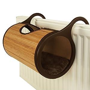 Rosewood, Cama de Gato para Colocar en radiador, Fabricada de bambú