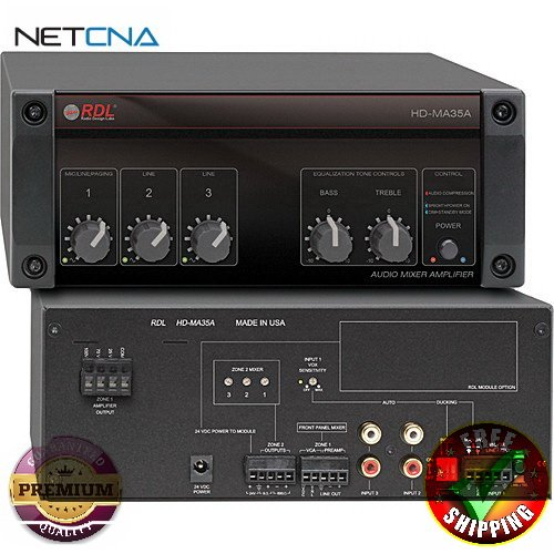 HD-MA 35A 35 Watt Mixer Amplifier with Power Supply With Free 6 Feet NETCNA HDMI Cable - BY NETCNA