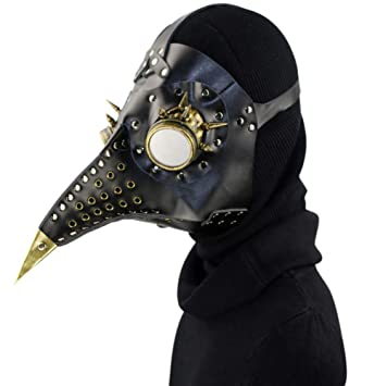 Handmade Plague Doctor mask metal industrial steampunk look color variations