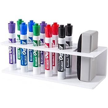 Amazon.com : 10-Slot White Acrylic Office Dry Erase Marker