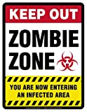 Zombie Zone novelty signs