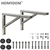 Homydom Mounting Bracket for Ductless Mini Split Air Conditioner Heat Pump 9000-36000 Btu Condenser, Rust Free Aluminium Alloy