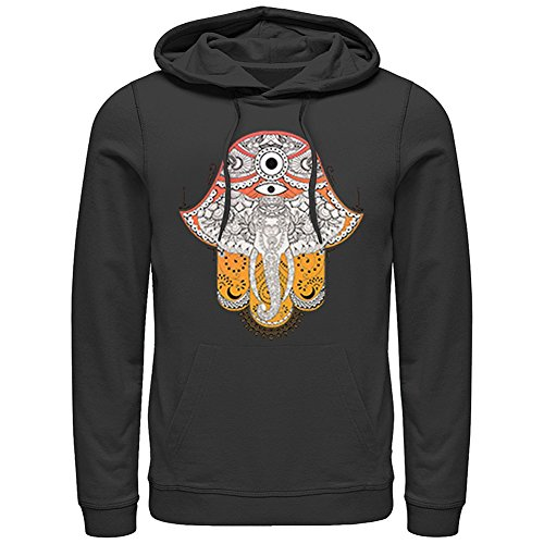Women's Hoodie - Artsy Elephant Black Printed Hooded Sweatshirt - 2X