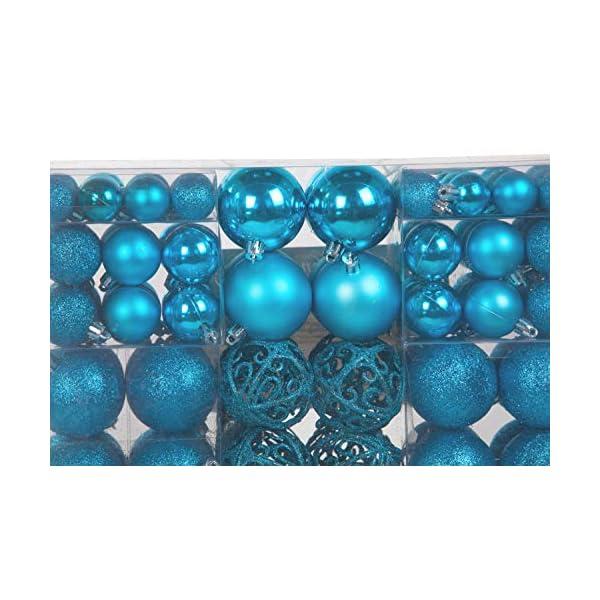 Lifestyle & More 100 Pezzi Palle di Natale Turchese Decorazioni per Alberi di Natale (Turchese) 3 spesavip