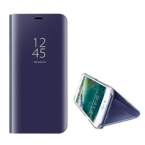 Kompatibel mit iPhone 6S Hülle, iPhone 6 6S Plus Hülle Mirror Case Spiegel Handyhülle PU Leder Flip Cover Handy Schutz Echtle