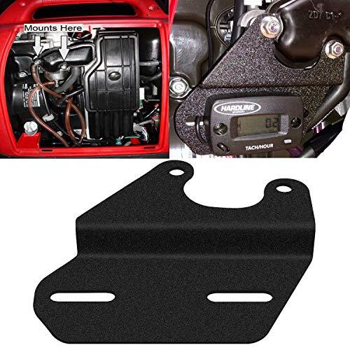 - E-cowlboy Universal Tach/Hour Meter Mounting Bracket Matter Black for Honda Generators EU1000i EU2000i EU2200i