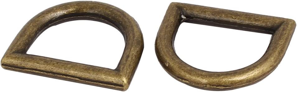Aexit 10pcs Luggage Home Hardware D Shape Loop Ring Buckle Bronze Tone for 20mm Width Strap Belt Model:56as156qo554