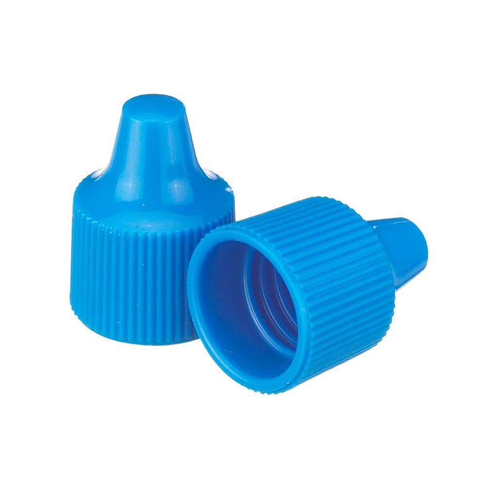 Wheaton 242514 Tip for 15-415 Screw Cap and 7-15mL Dropping Bottles, 15 mm Diameter, Polypropylene, Blue (Pack of 100) Scilabware