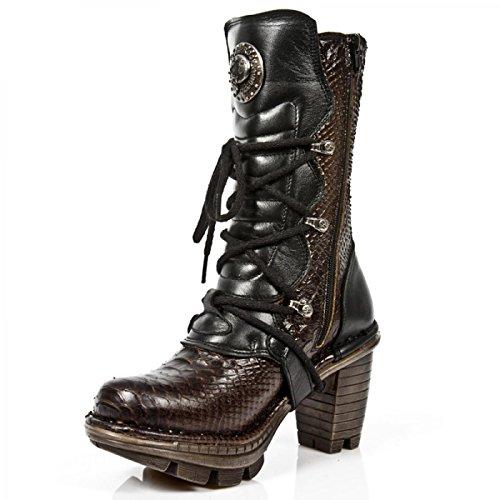 Nuovi Stivali Da Roccia M.neotr005-c14 Gotico Hardrock Punk Damen Stiefel Schwarz