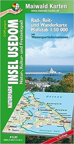 Insel Usedom Karte.Maiwald Karte Usedom Rad Reit Und Wanderkarte 1 50 000