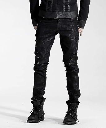 Amazon.com: Pantalones punk punk para hombre, estilo gótico ...