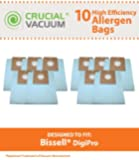 10 Bissell DigiPro Canister Vacuum Bags, Fits Bissell DigiPro Canister Vacuum Model # 6900, Compare to Part # 32115, Designed & Engineered by Crucial Vacuum