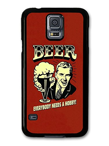 Beer Everybody Needs a Hobby! Vintage Illustration coque pour Samsung Galaxy S5