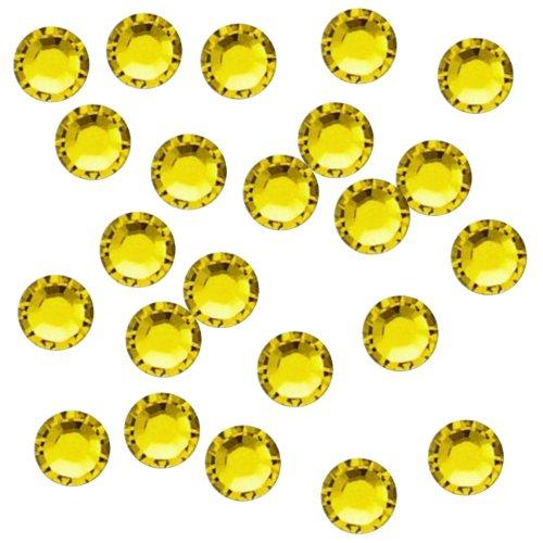 Rhinestone Genie Embellishment Hot Fix Rhinestones, Citrine - Glitter Glass Letter