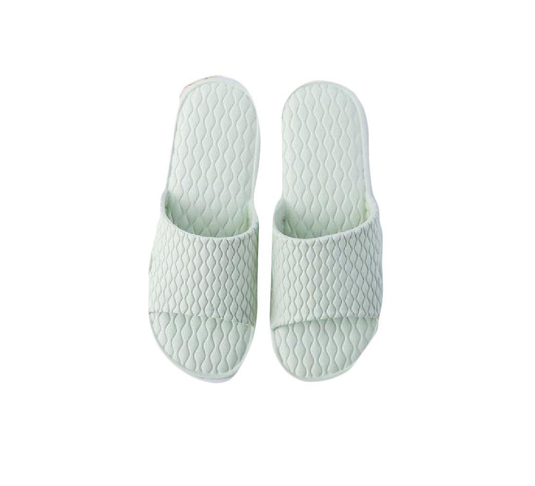 AGAING Women's Comfort Bathroom Slides Mule Anti-Slip Slip on House Slippers Green 7.5 B(M)