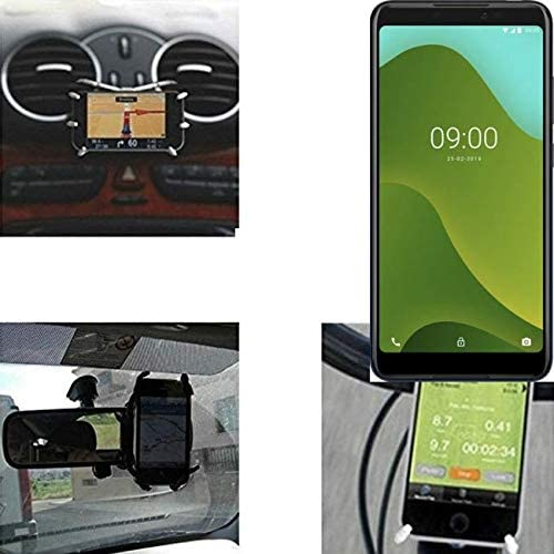 K-S-Trade Soporte para Coche Y para Mesa Etc. Compatible con Wiko Sunny 4 Plus, Negro araña. Montaje De La Salida Aire, Espejo Retrovisor, Bicicletas, Etc. Trípode: Amazon.es: Electrónica
