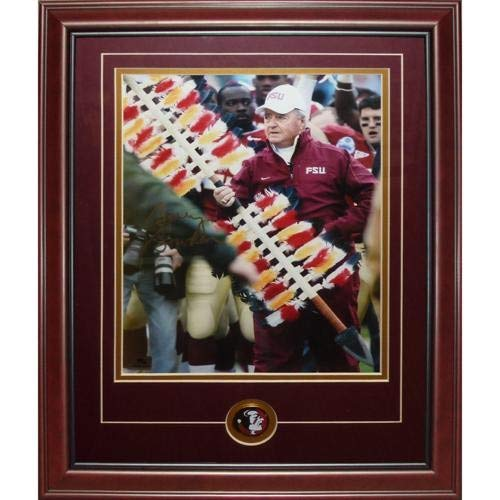 Bobby Bowden Autographed Signed Auto Florida State FSU Seminoles With Spear Deluxe Framed 11 14 Photograph - Certified ()